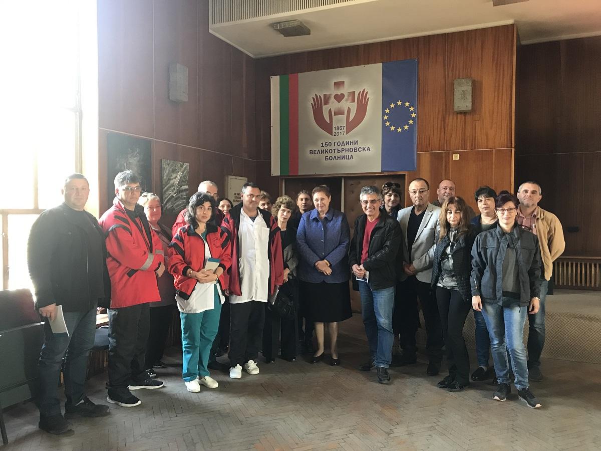 Fotografia do grupo da sessão de formação