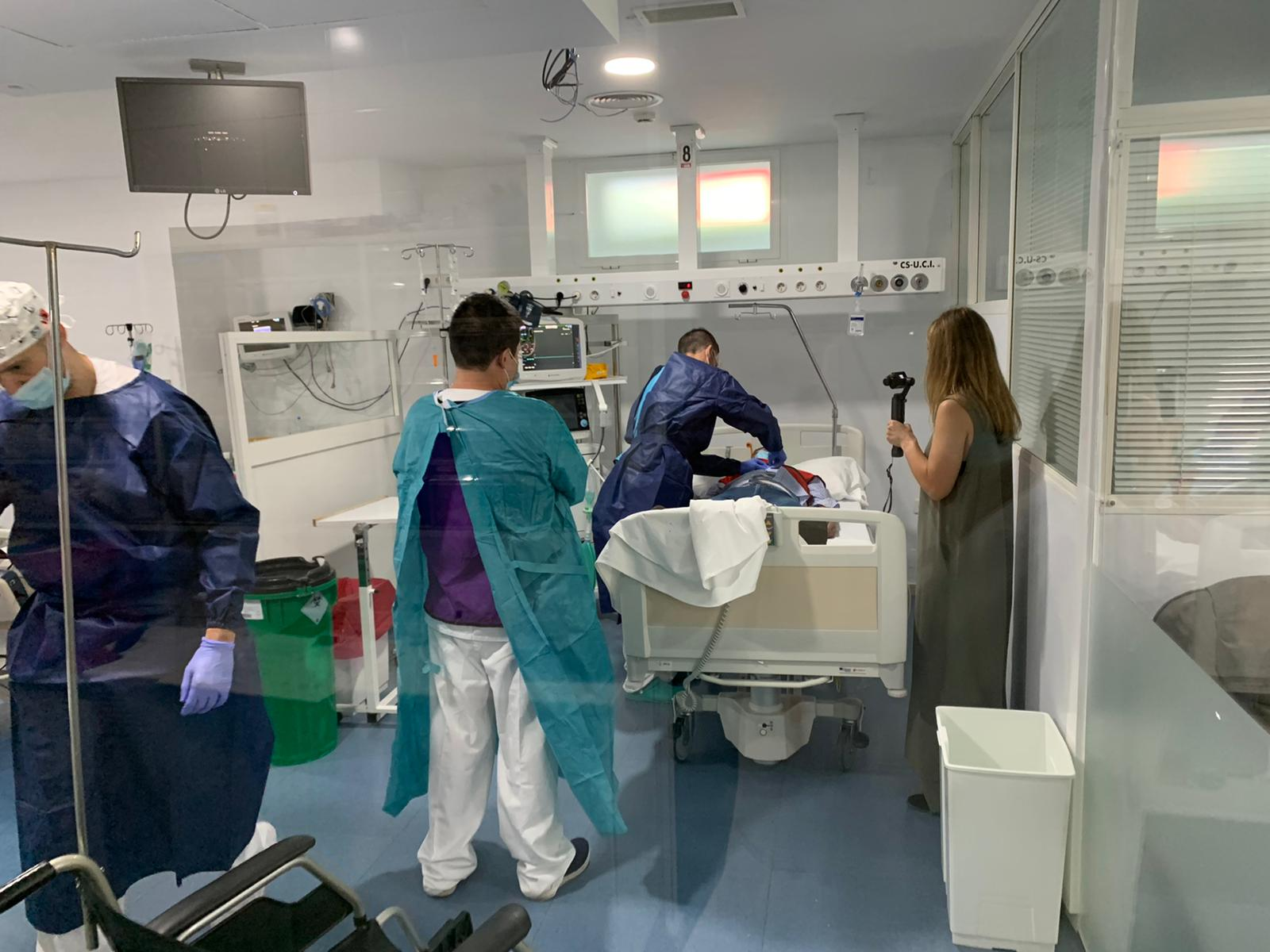 Симулация на инсулт в болница Cruz Roja в Кордоба