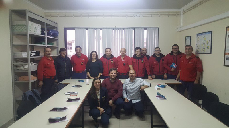 "Members of the Praia da Vitoria Fire Department who attended the ""Stroke Week"" in Terceira Island"
